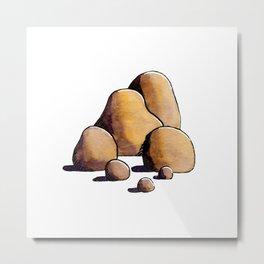 Gold Stones Metal Print