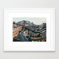manchester Framed Art Prints featuring Manchester by aleenaaa