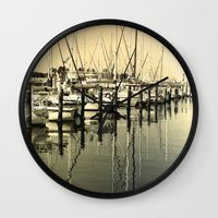 nautical Wall Clocks featuring Nautical  by Devin Stout