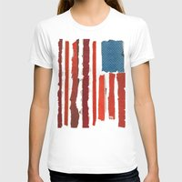american flag T-shirts featuring American Flag  by Robert Payton