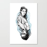 cosima Canvas Prints featuring sarah and cosima by hille