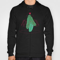 blugreenish circled feathers Hoody