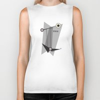 kandinsky Biker Tanks featuring Black Is by Amy Newhouse