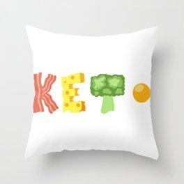 4 Pillars of Ketosis Throw Pillow