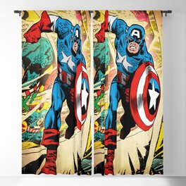 Man Of Captain In America Blackout Curtain
