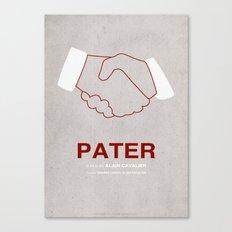 Pater - MINIMALIST POSTER Canvas Print
