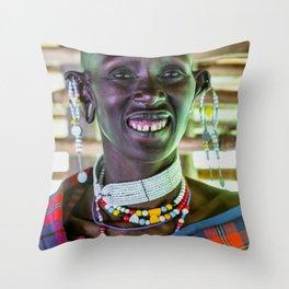 Maasai 4256 Ngorongoro Tanzania Throw Pillow