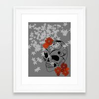 sugar skull Framed Art Prints featuring Sugar Skull by Tanya Thomas