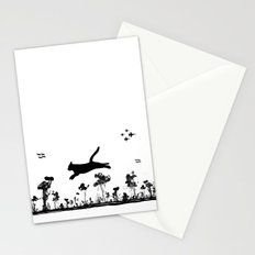 The Cat and Ink drop bombs Stationery Cards