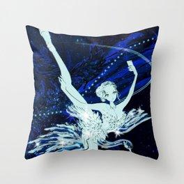 Cygnus / Leda and Swany Throw Pillow