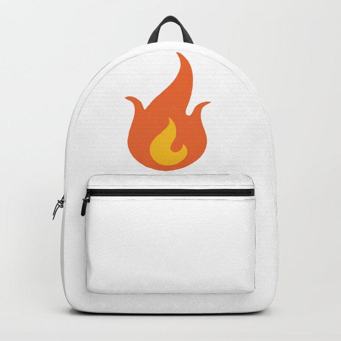 Fire Emoji Backpack by azza1070