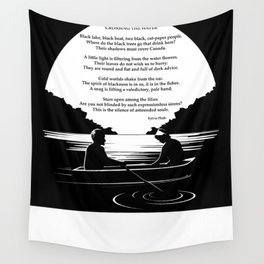 Crossing the Water (poem) by Sylvia Plath Wall Tapestry