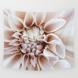 Cafe Au Lait Dahlia Close Perspective Wall Tapestry