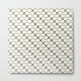 Leather pattern. Dumbbells Metal Print