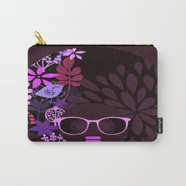Afro Diva Magenta Lavender Eggplant Carry-All Pouch