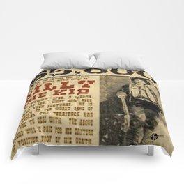 Billy The Kid Mug Shot Wanted Poster Mugshot West Cowboy Vintage Comforters