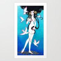 venus Art Prints featuring Venus by Leilani Joy