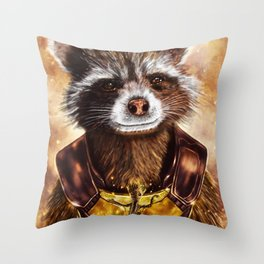 Rocket Raccoon and baby Groot from Guardians of the Galaxy Throw Pillow