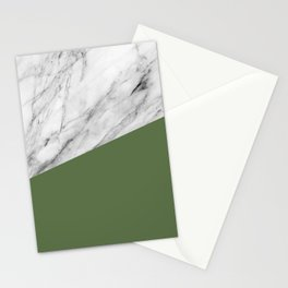Marble and Kale Color Stationery Cards