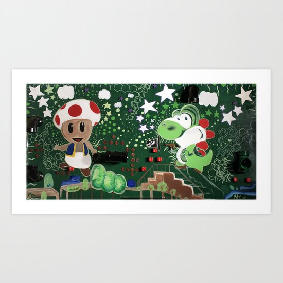"""Fear and Loathing in 3D MarioWorld"" Art Print"