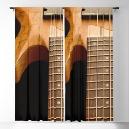 Music is a Moral Law ~ Bass Guitar Blackout Curtain