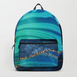 Marble Blue Mermaid Landscape Backpack