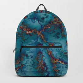 Blue fantasy marble Backpack