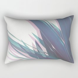 Holographic Leaves II Rectangular Pillow