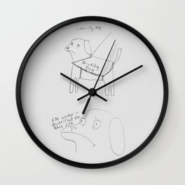 Insecurity dog Wall Clock