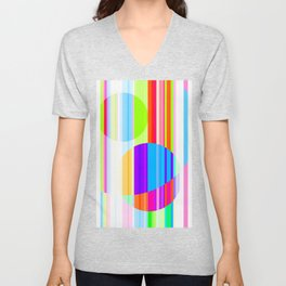 Re-Created Intersection IX by Robert S. Lee Unisex V-Neck