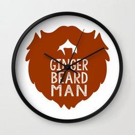 GINGER BEARD MAN Wall Clock