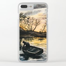 Watercolor Sunset Clear iPhone Case