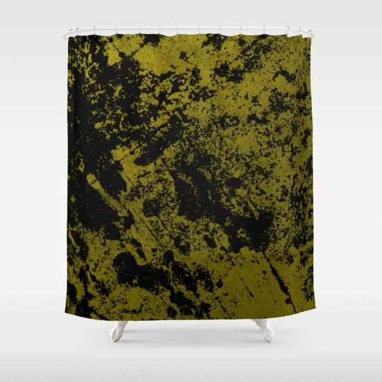 Black On Foil Black And Gold Abstract Shower Curtain By PrintPix Society6