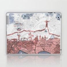 Rio de Janeiro skyline - vintage map Laptop & iPad Skin