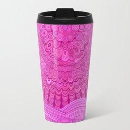 Hot Pink Ocean Mandala Travel Mug