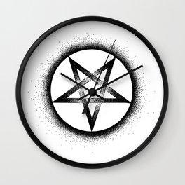 Inverted Pentagram Wall Clock