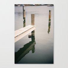 Boat Slip on Duvall Creek Canvas Print