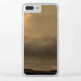 Sepia Storm - San Rafael Reef - Utah Clear iPhone Case