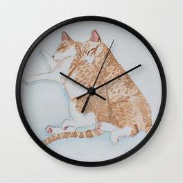 """disco & harley"" Wall Clock"
