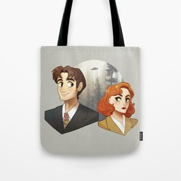 Mulder & Scully Tote Bag