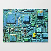 technology Canvas Prints featuring Crowded Technology  by mark jones