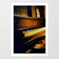 piano Art Prints featuring piano by Liz Morrison Smith