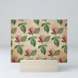 Vintage Watercolor Tulip in Pink Mini Art Print