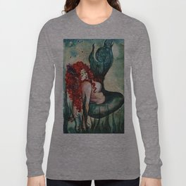 Plus Size Green Mermaid Long Sleeve T-shirt
