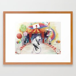 Magic circus Framed Art Print