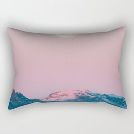 Moon and the Mountains – Landscape Photography Rectangular Pillow