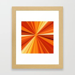 Bright Orange Sun Glare Framed Art Print