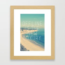 Offline is the new Luxury Vintage Beach Print Framed Art Print