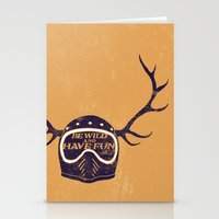 into the wild Stationery Cards featuring wild by The Junkers
