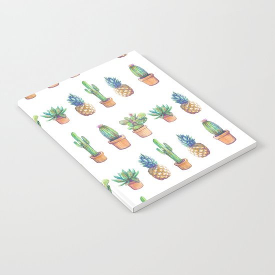 cactus and pineapples white! Notebook